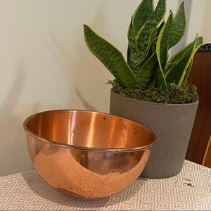 Vintage copper hanging bowl kitchen